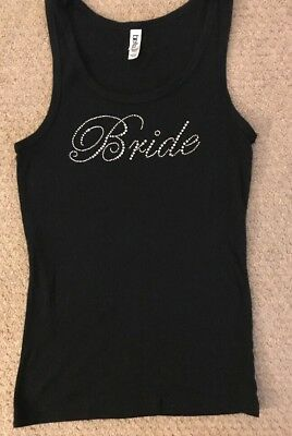 Bride Rhinestone Tank Top by Bella Size Large