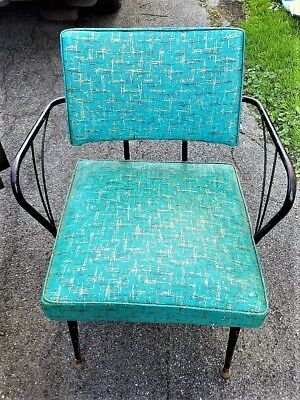 The BEST Viko Baumritter Blue w Gold Vinyl Speckled Lounge Chair out there!
