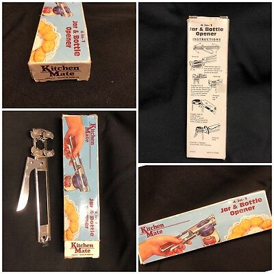 Vintage Kitchen Mate 4-in-1 Jar and Bottle Opener CM8212 in Original Box
