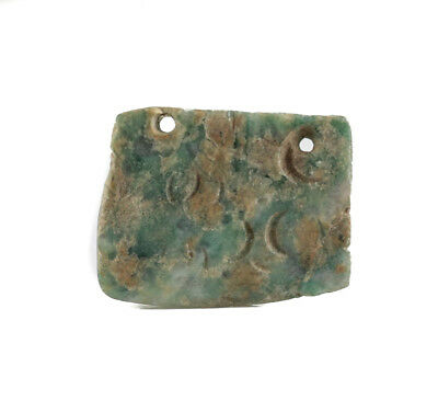 Pre Columbian MEZCALA? Green Stone Amulet Pendant - Western Mexico