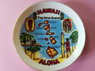 Vintage Souvenir MINI Plate Hawaii