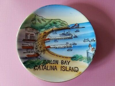 Vintage Souvenir MINI Plate Catalina Island Avalon Bay