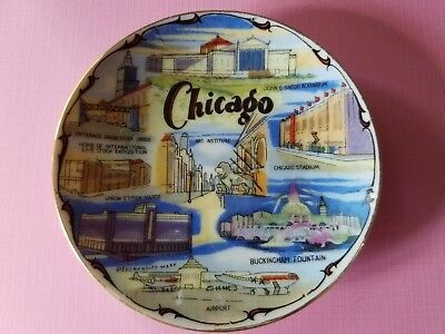 Vintage Souvenir MINI Plate Chicago