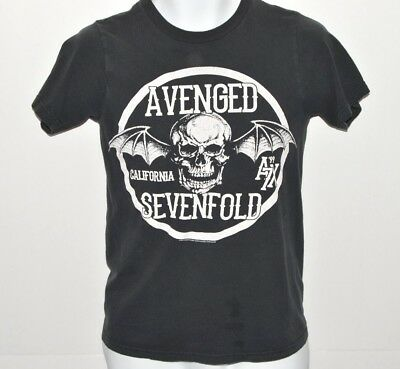Avenged Sevenfold Band T-shirt Mens Size Small 2013 California Winged Skull A7X