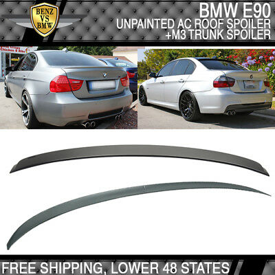 06-11 BMW E90 3 Series 4Dr 328 330 335 AC Roof Spoiler + M3 Style Trunk Spoiler