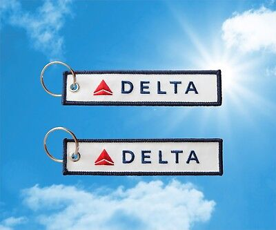 Delta Airlines keychain keyring baggage luggage bag tag