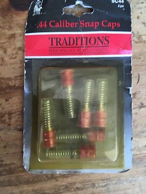 traditions 44 40 cal snap caps plastic cowboy action 6 pack