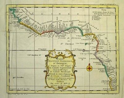 1757  Bellin Map of West Africa