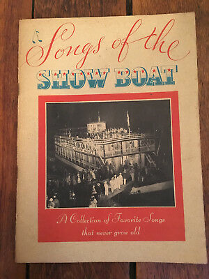 30's Songs of the Show Boat Sheet Music Book Old Maxwell House Coffee 1935 Ads
