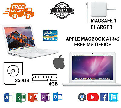 Apple MacBook A1342, Core2Duo 2.26 GHz, 250GB HDD - 4GB RAM, MS OFFICE - A GRADE