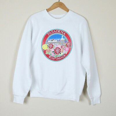 Vintage 1989 Pasadena Tournament of Roses Rose Parade Bowl Sweatshirt Texas L
