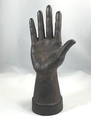 Rare Early Antique Primitive Cast Iron HAND Form MOLD Jewelry