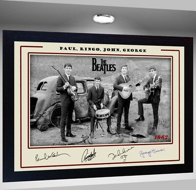 The Beatles Framed Photo pre-PRINT POSTER Perfect gift
