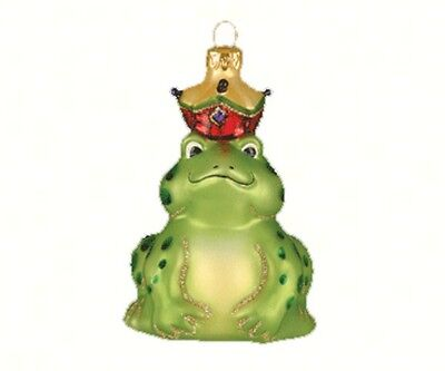 BLOWN GLASS ORNAMENT The Frog Prince  HAND PAINTED  A219