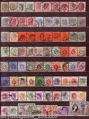 Hong Kong Nice Old Classic Collection USED 81 Stamps Don't Miss