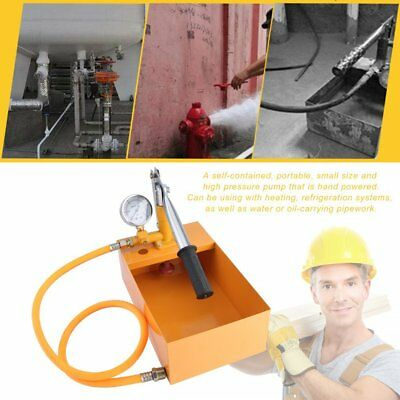 Hand Power Test Pump Water Pipe Leakage Tester Hydraulic Pressure Test Pump