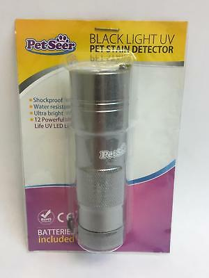 PetSeer Black Light Ultraviolet Pet Stain Detector Flashlight Model X000J5LL41