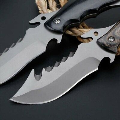 """9"""" Fixed Blade Knife Tactical Pocket Blade Open Survival Hunting EDC With Sheath"""