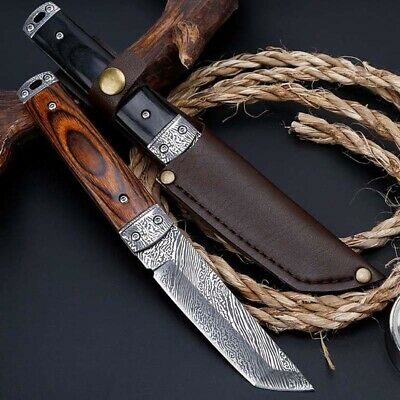 """9"""" Fixed Blade Straight Tactical Military Pocket Hunting Knife"""