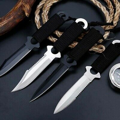 """8"""" Fixed Blade Straight Tactical Military Pocket Hunting Knife With Cover"""
