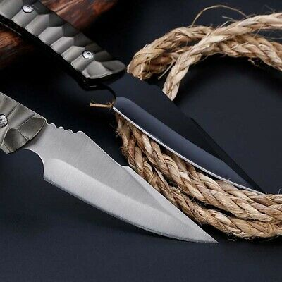 "8"" Fixed Blade Knife Tactical Pocket Survival Hunting Multifunction With Sheath"