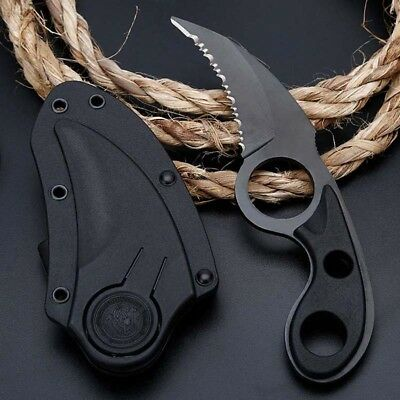 CSGO Karambit Fixed Blade Knife Sharp Outdoor Hunting Fishing Saber With Sheath