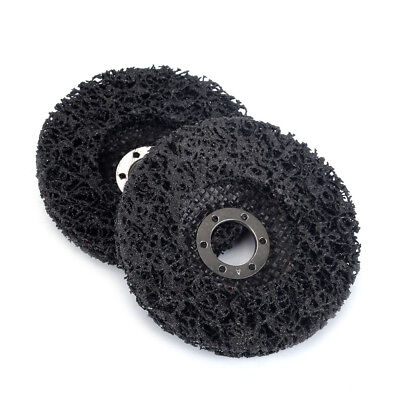 """2Pcs 4.5"""" Poly Strip Abrasive Disc Wheel Clean & Remove Paint,Rust and Oxidation"""