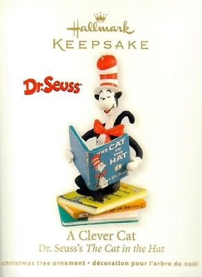 2012 Hallmark A Clever Cat Dr. Seuss The Cat In The Hat Tree Ornament GIFT