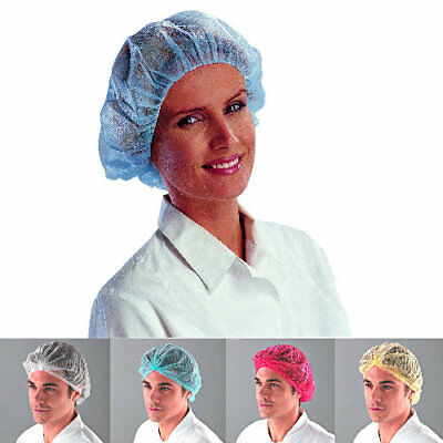 1000 Disposable Mob Caps Hair Net Food Catering Kitchen Restaurant Workwear Hat