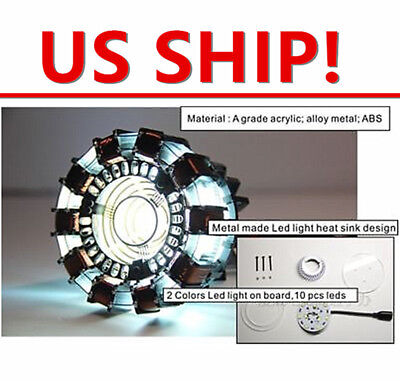 US Stock! DIY MASTER GRADE IRON MAN MK1 ARC REACTOR USB POWERED