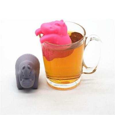 Silicone Hanging Hippo Infuser Tea Leaf Strainer Herbal Spice Filter Diffuser
