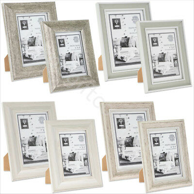 Vintage Wooden Photo Picture Frames Single Freestanding Shabby Chic Photo Holder