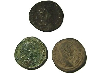 Lot Of 3 Ancient Roman Bronze Provincial Coins