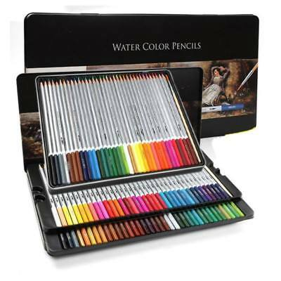 Watercolor Pencils Wood Water Soluble Colored Art Drawing Pencil Professional AU