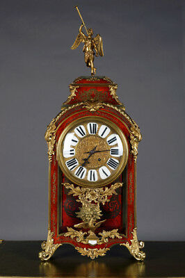 Monumental Boulle Watch Napoleon III Antique um 1850-70 Fireplace Clock Pendule