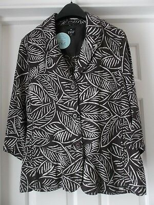 TIGI, Ladies Lightweight JACKET - SIZE 14 /16 - BROWN  - LUXURY LINEN BLEND