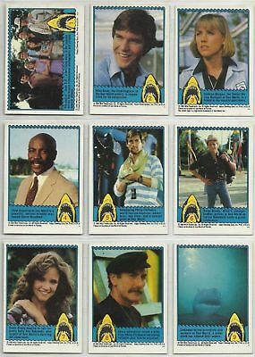 Jaws 3 3D The Movie - Complete Trading Card Set (44) - 1983 Topps - NM