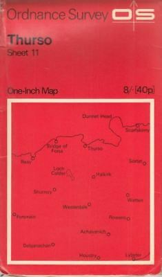 Ordnance Survey One-Inch Map of Great Britain - Sheet 11 - Thurso :