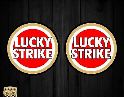 Pegatina Decal Sticker Autocollant Adesivi Aufkleber  2 X Lucky Strike