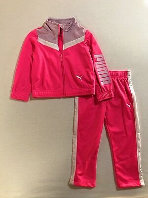 PUMA Baby Girls Two Piece Set Tracksuit (12-24 Months)