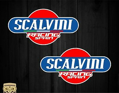 Pegatina Decal Sticker Autocollant Adesivi Aufkleber  2 X  Scalvini Racing Spain
