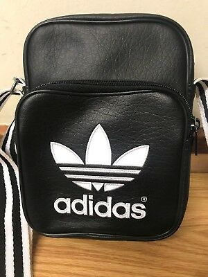 Adidas Unisex Mini Shoulder Bag Size Small Black And White