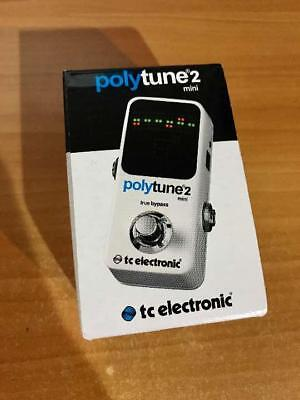 TC Electronic Polytune 2 Mini Guitar Chromatic Tuner Poly Tune True Bypass F/S