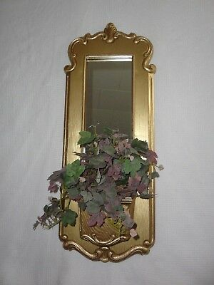Home Interiors  Resin '' Mirror Wall Pocket & Plant '' Gorgeous  23.5'' x 9''