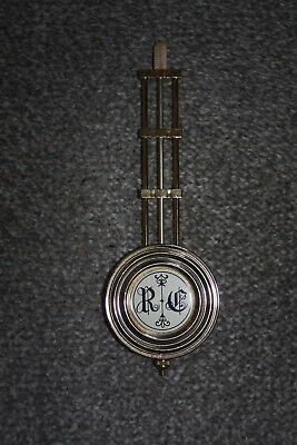 "Vintage ""RC"" pendulum from wall clock parts/spares/repairs"