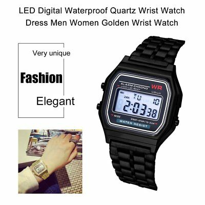 LED Digital Wrist Watch Ultra Thin Alarm Wrist Watch Calendar for Men Women QA