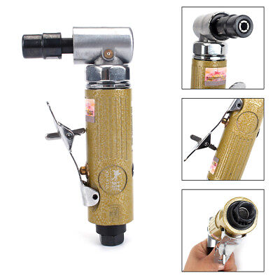 1/4'' Mini Right Angle Air Die Grinder 3MM 6MM Collet 25000RPM  Pneumatic Tool