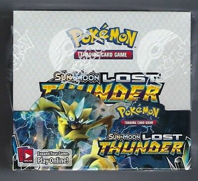 Pokemon Lost Thunder Sun & Moon Booster Box Factory Sealed