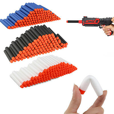 100-300PC Gun Soft Refill Bullets Darts Round Head Blaster For Nerf N-strike Kid