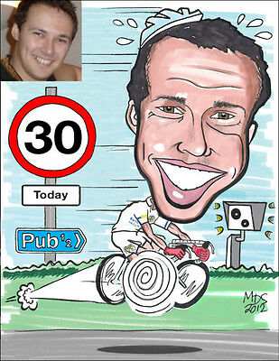 A4 Personalised Caricature - (from photo)